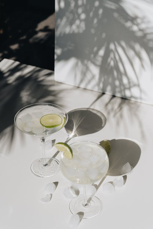 Photo Of Sliced Lime On Cocktail Glass