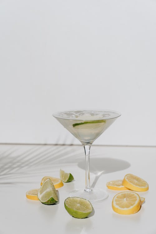 Photo Of Cocktail Glass With Sliced Lime
