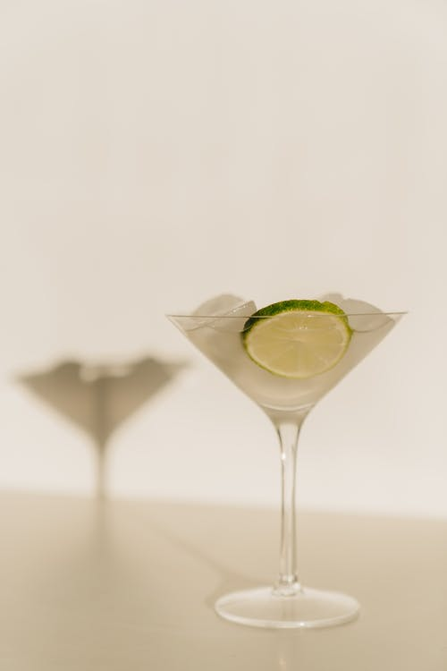 Photo Of Glass With Sliced Lime