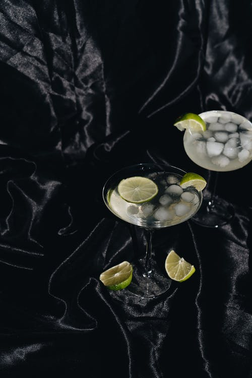 Photo Of Cocktail Glasses With Sliced Lime