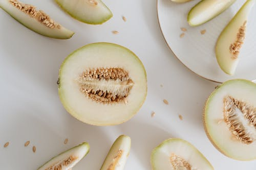 Close-Up Photo Of Sliced Melon