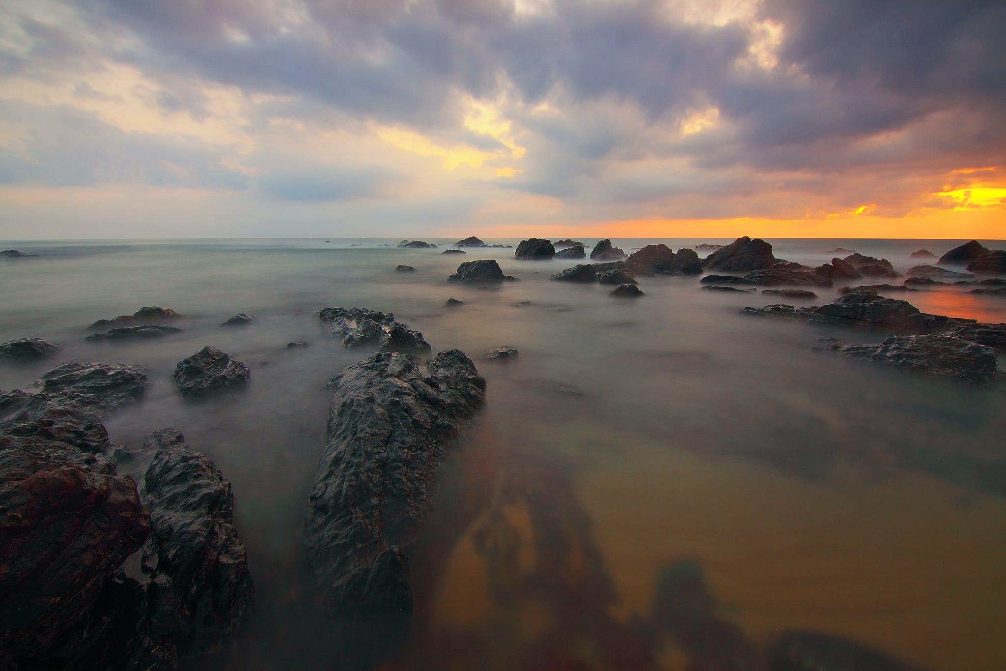 Foto d'estoc gratuïta de aigua, cel, Costa, horitzó