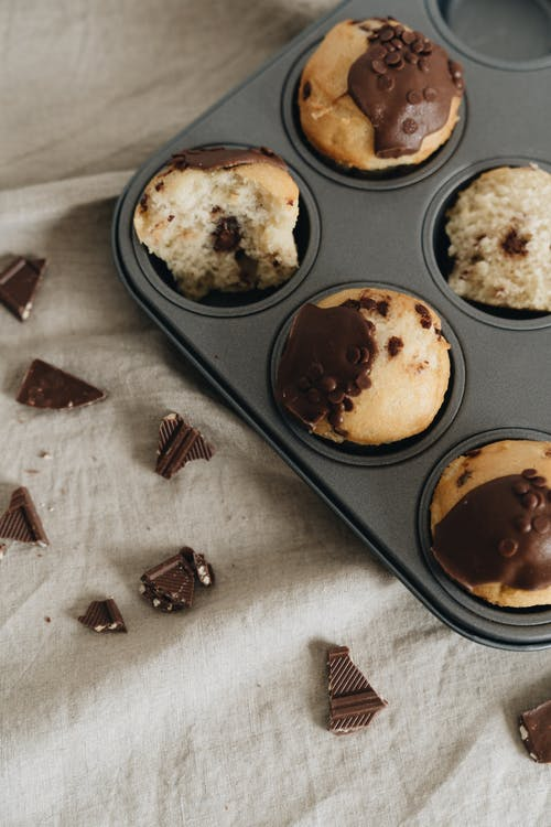 Photo Of Chocolate Muffins On Tray