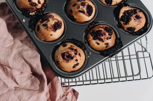 Photo Of Berry Muffins On Tray