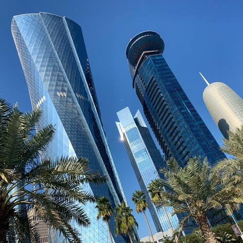 Free stock photo of doha, downtown, qatar, skyscapers