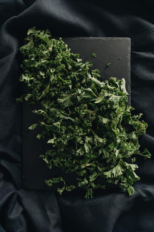 Overhead Shot of Kale Leaves