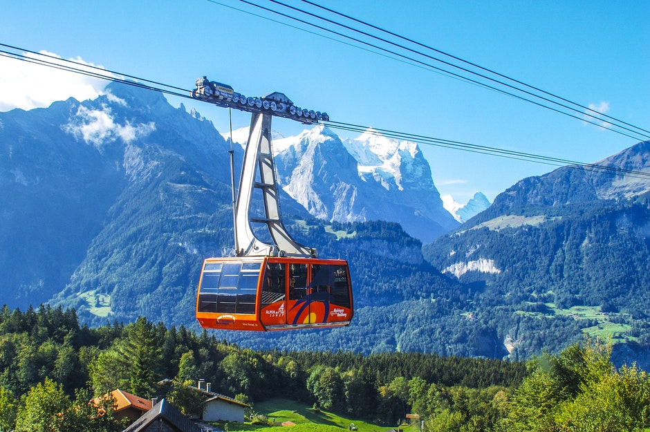 adventure, cable car, clouds