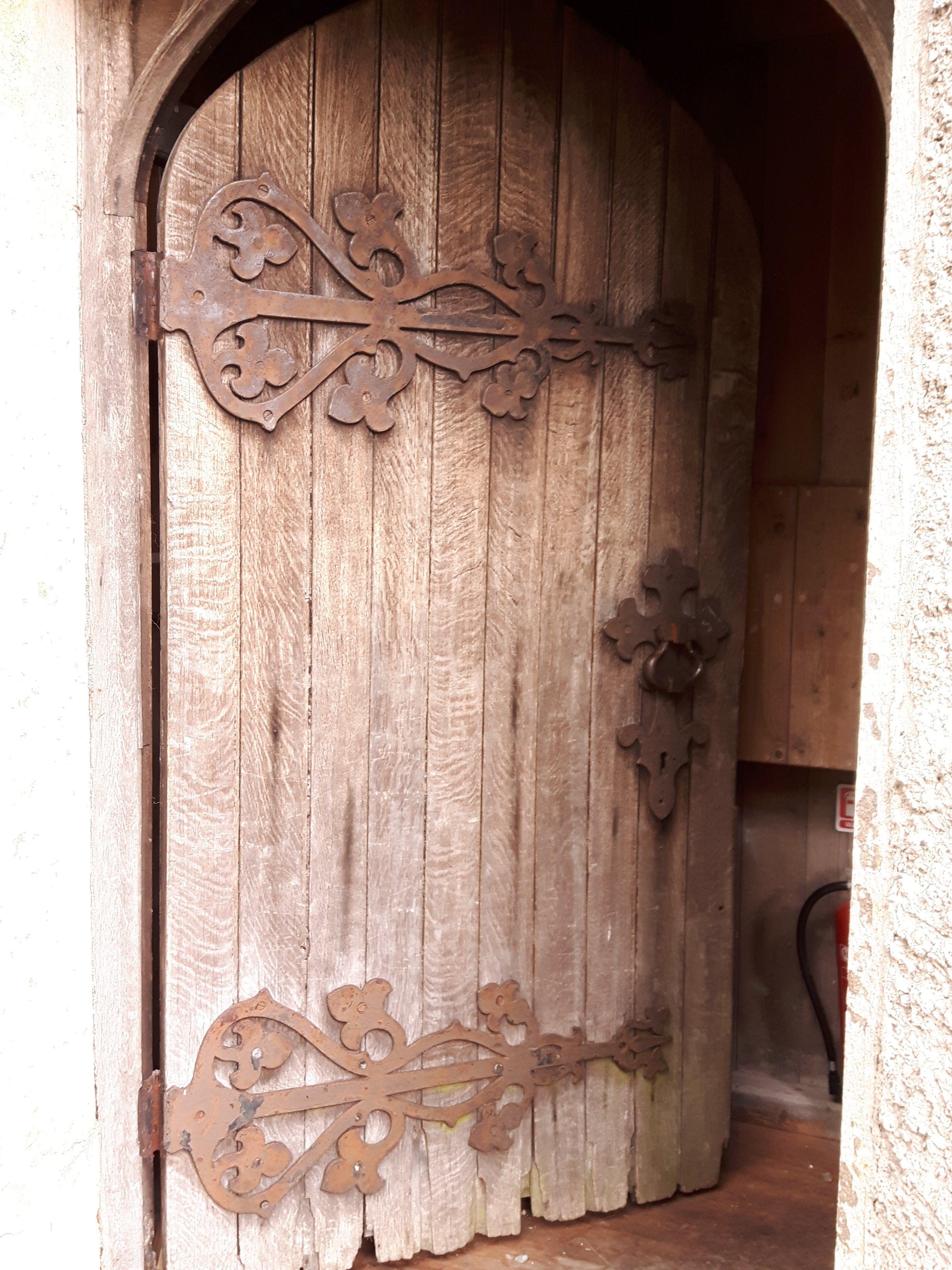 Free stock photo of ironwork door, old door, open door, open doorway