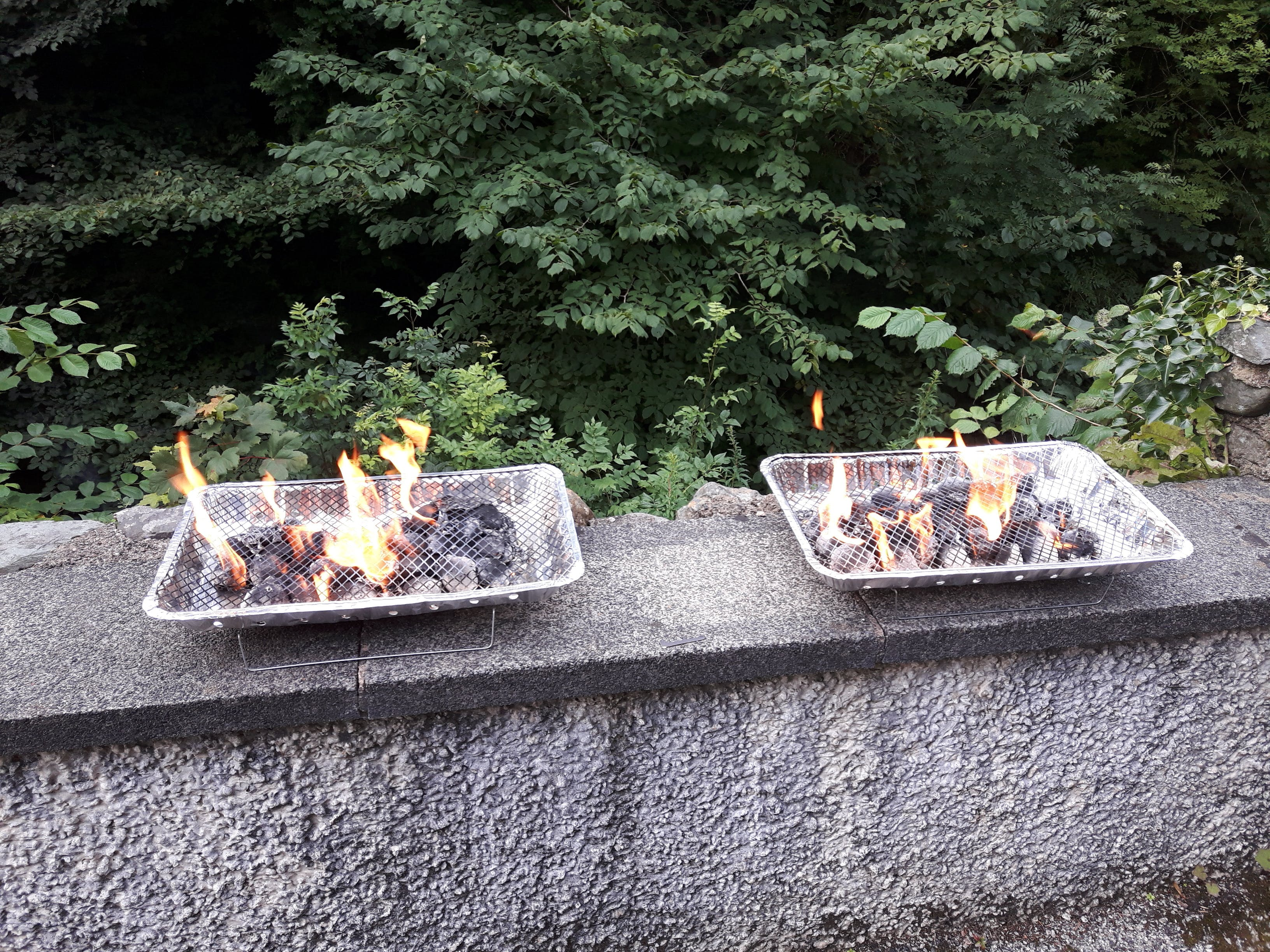 Free stock photo of barbecue, disposable barbecue, fire