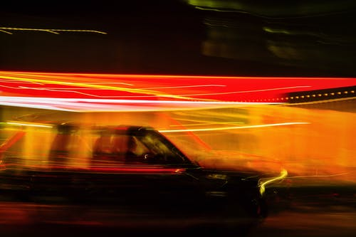 Free stock photo of abstract art, bright lights, cars driving, cinematography
