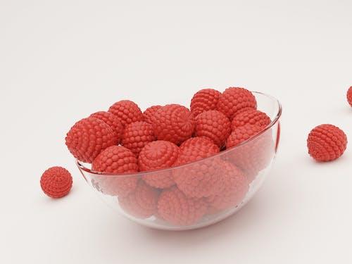 Fotobanka sbezplatnými fotkami na tému biele pozadie, červená, červené ovocie, jednoduchý