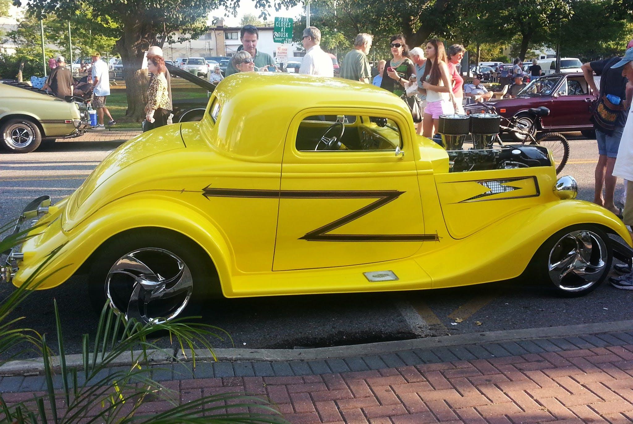 Free stock photo of car, yellow