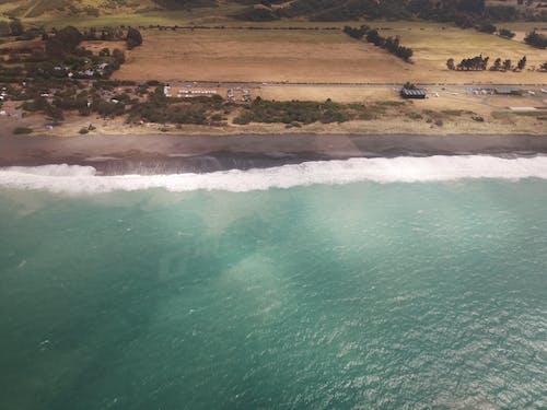 Fotos de stock gratuitas de foto aérea, helicóptero, playa