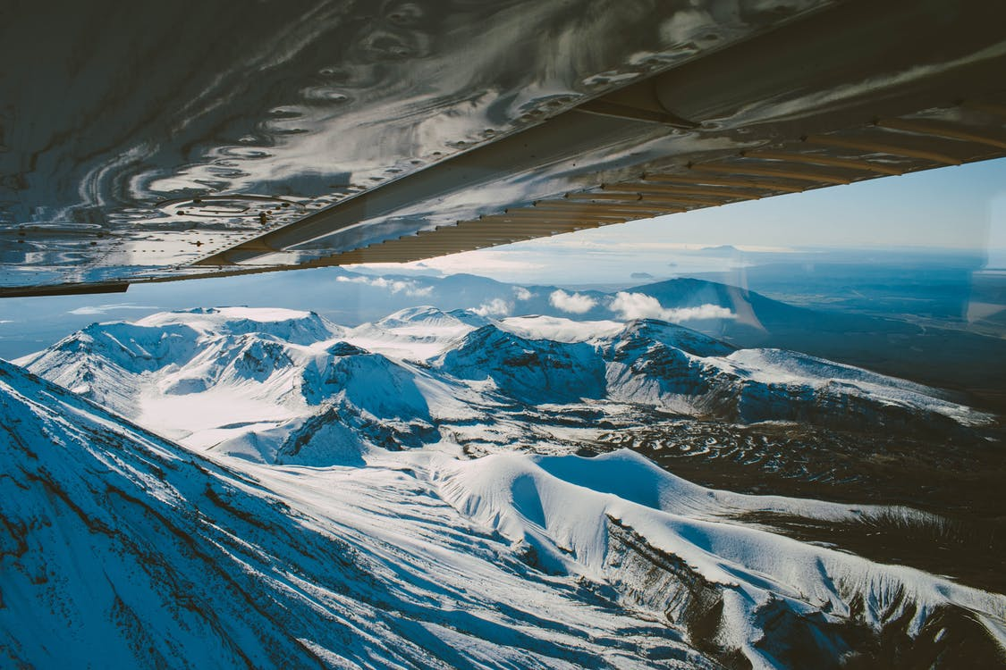 Foto profissional grátis de aeronaves, Alpes, altitude