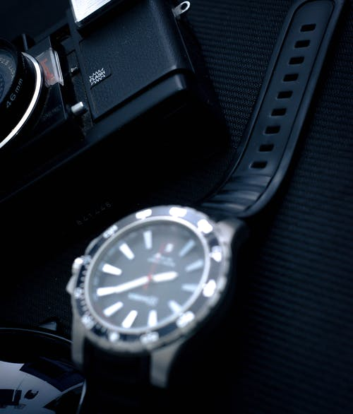 Close-Up Photo Of Analog Watch
