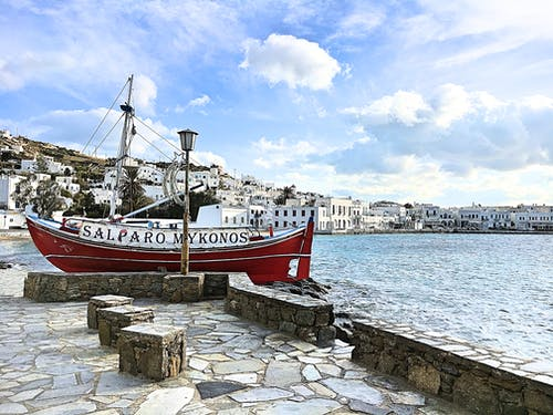 Free stock photo of blue, boat, greece, mediterranean