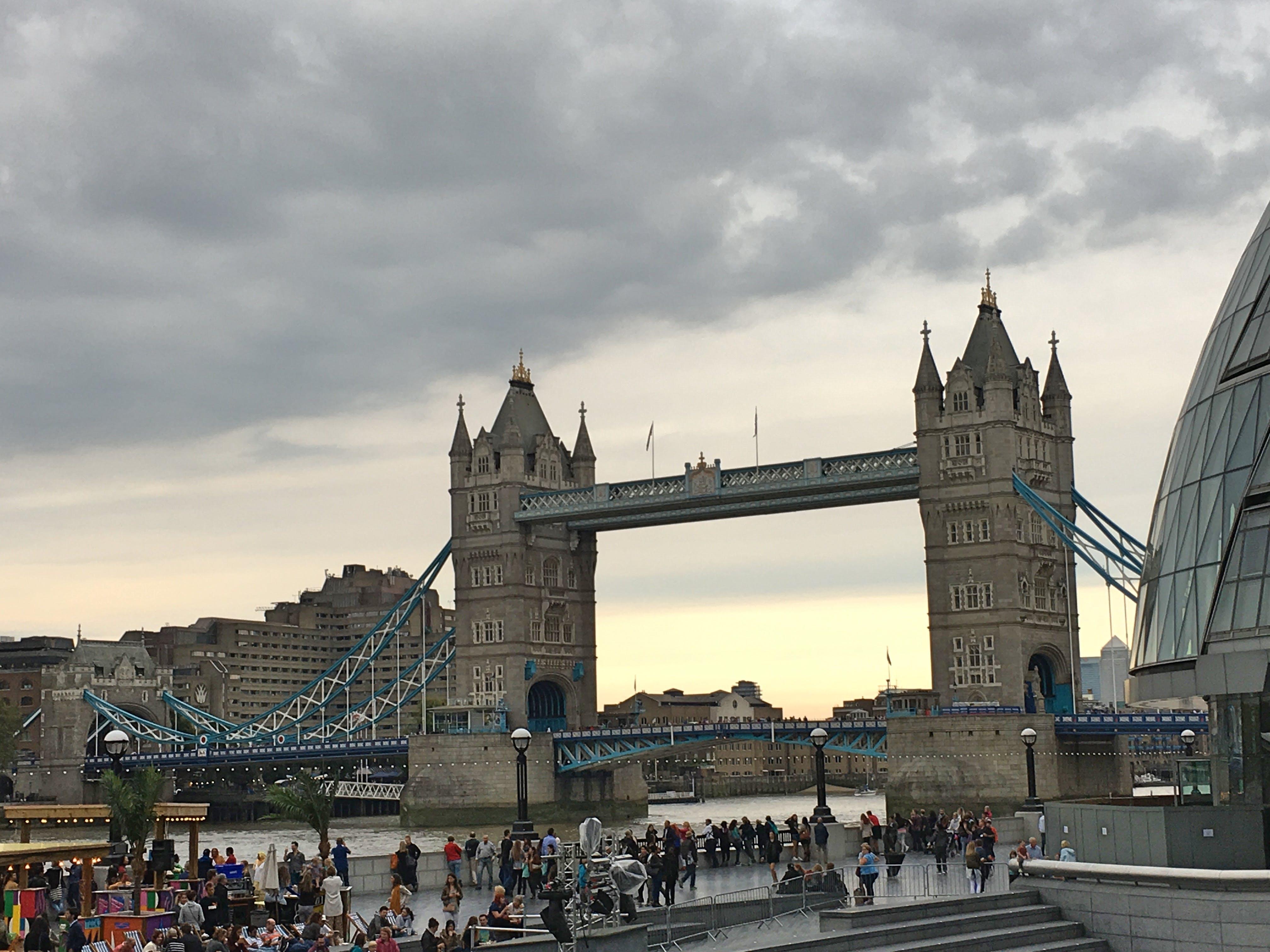 Free stock photo of bridge, london, overcast