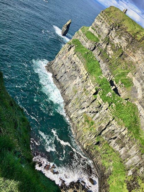 Free stock photo of cliffs, cliffside, green grass, ireland