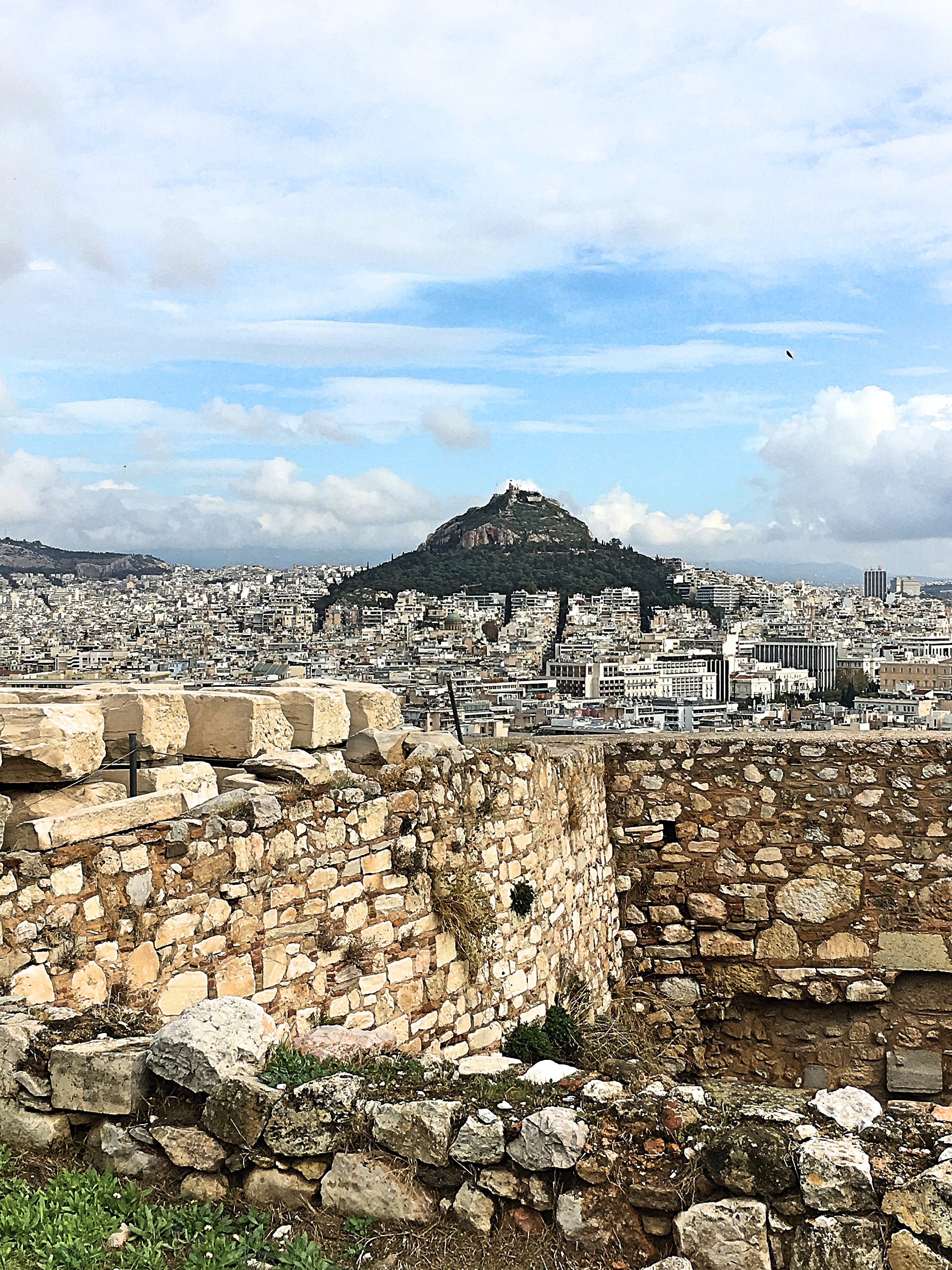 Free stock photo of ancient, city, greece, mountain