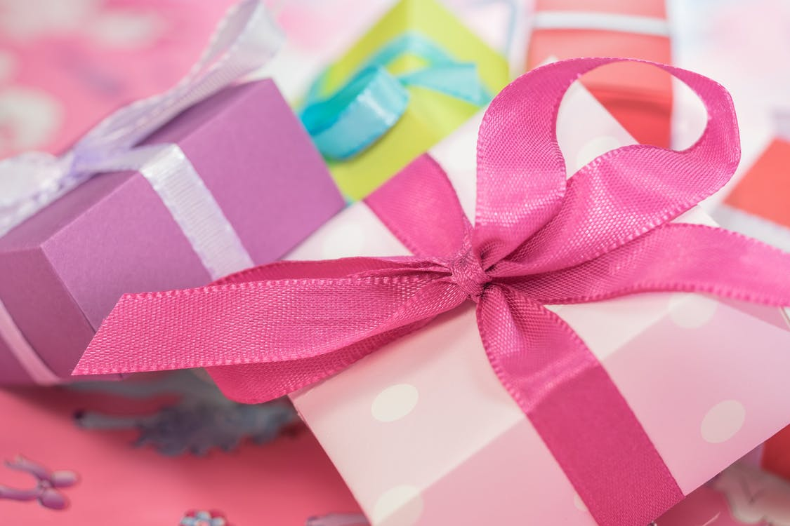 Pink and White Present