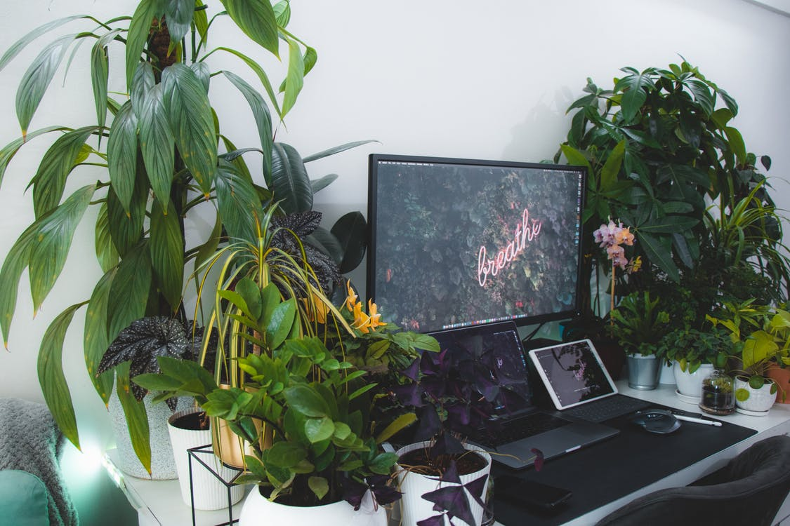 Black Flat Screen Tv on White Wooden Table