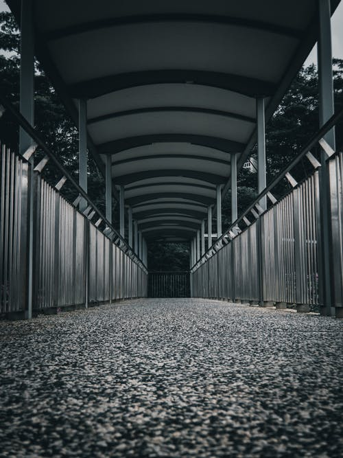 Gray Concrete Pathway With No People