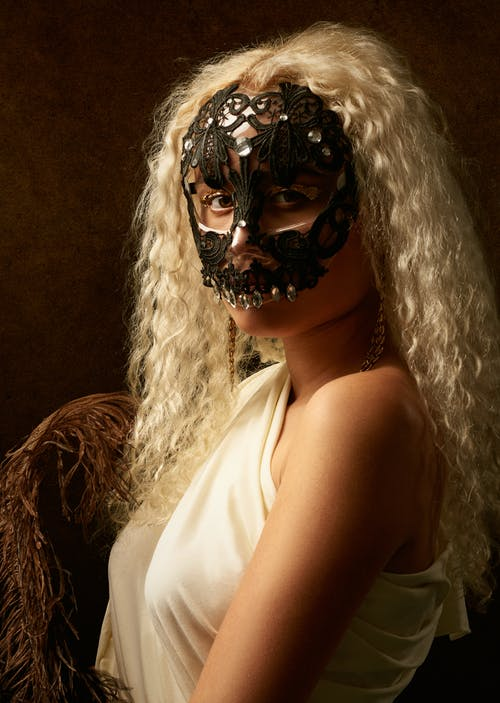 Photo Of Woman With Black Masquerade