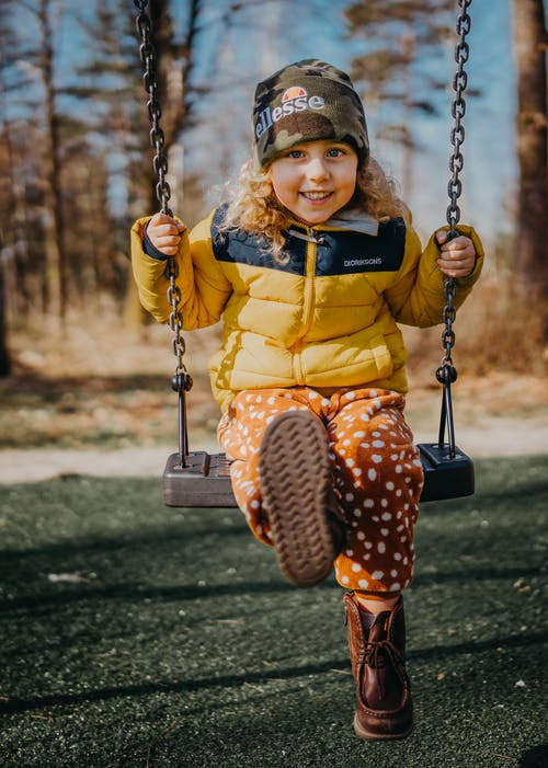 Photo Of Kid On Swing