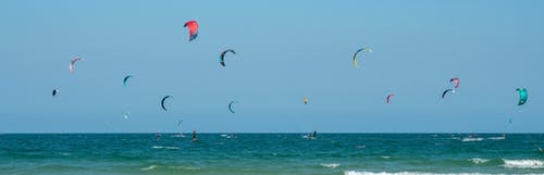Free stock photo of beach, kitesurfing