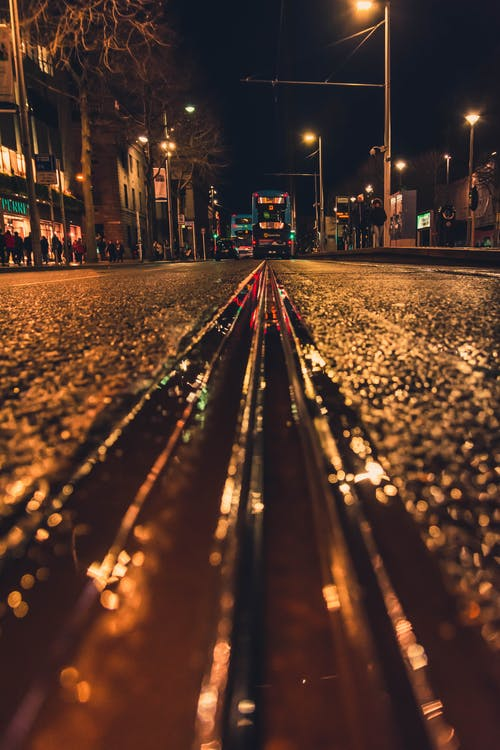 Low Angle View Of A Railway On A Street