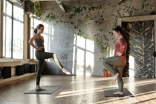 Women Doing Balancing Exercise