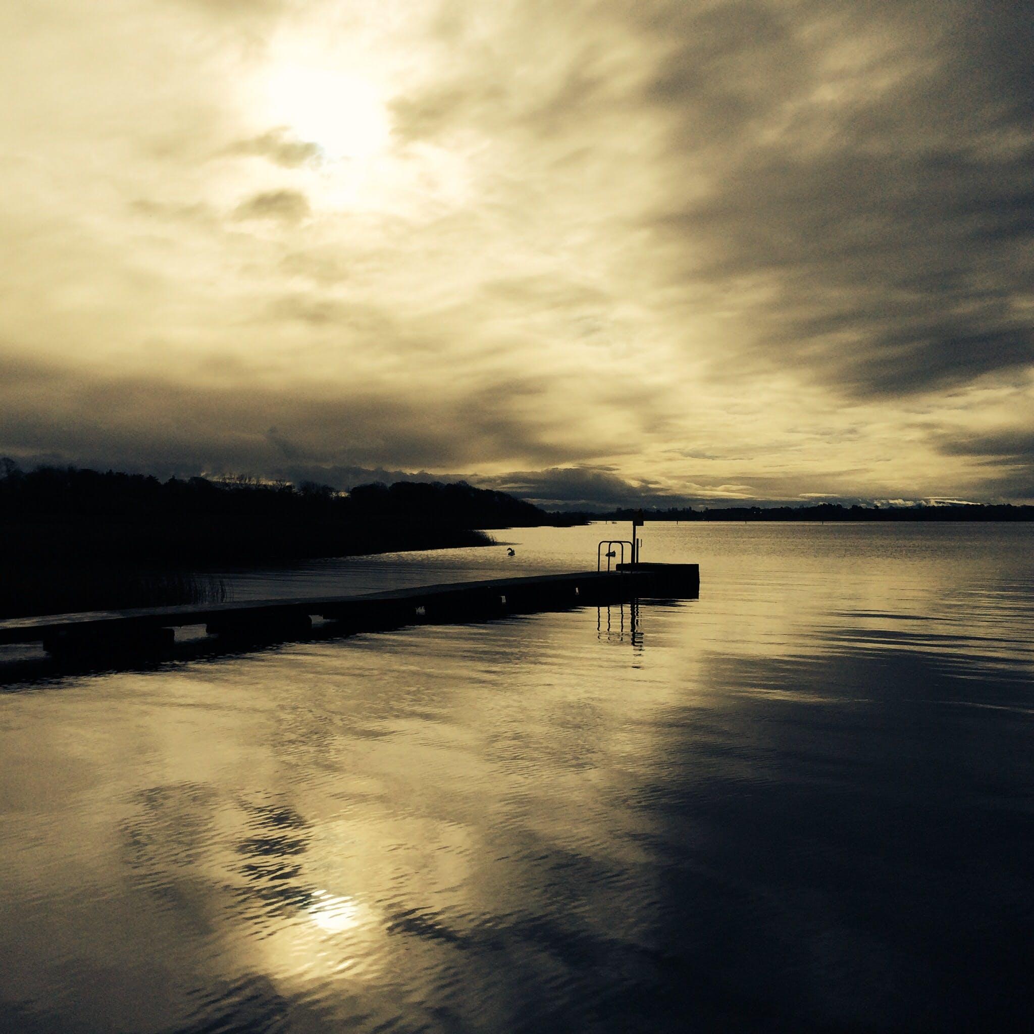 Free stock photo of Galway, ireland, lake, sepia