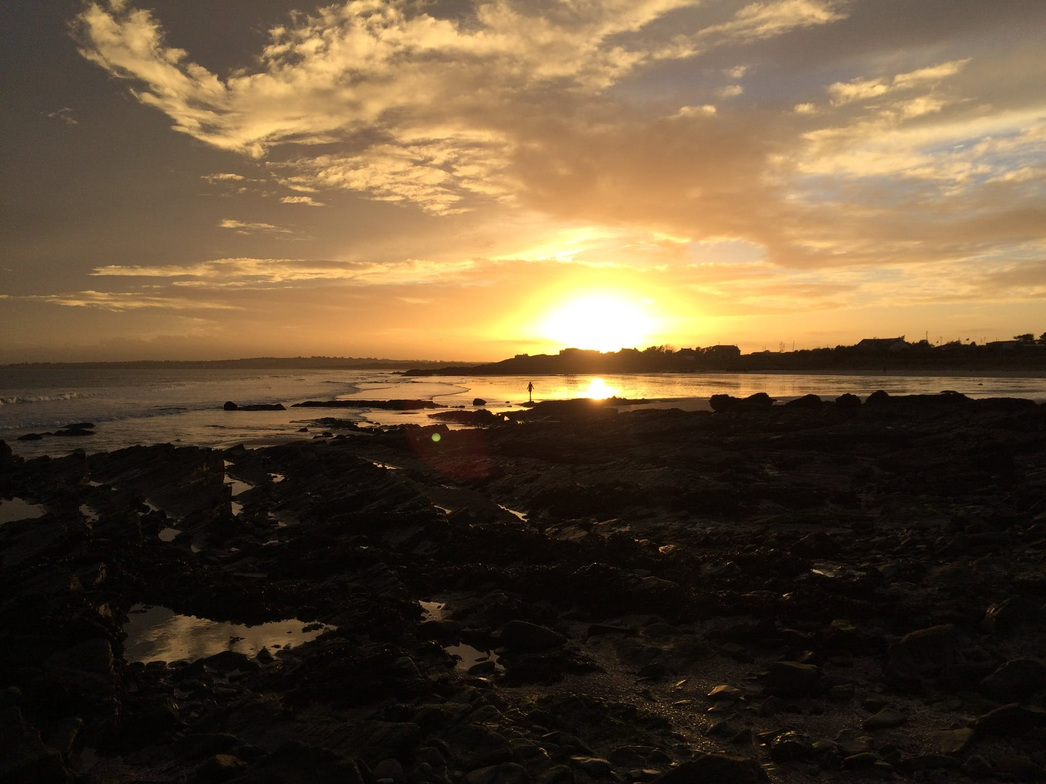Free stock photo of beach, sunset