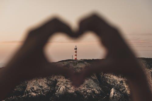 경치, 경치가 좋은, 등대, 사랑의 무료 스톡 사진