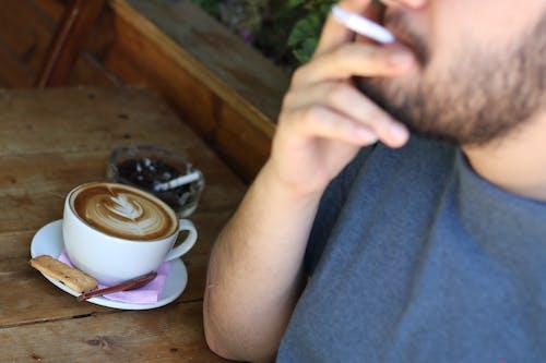 Free stock photo of cigar, cigarette, coffee, coffee art