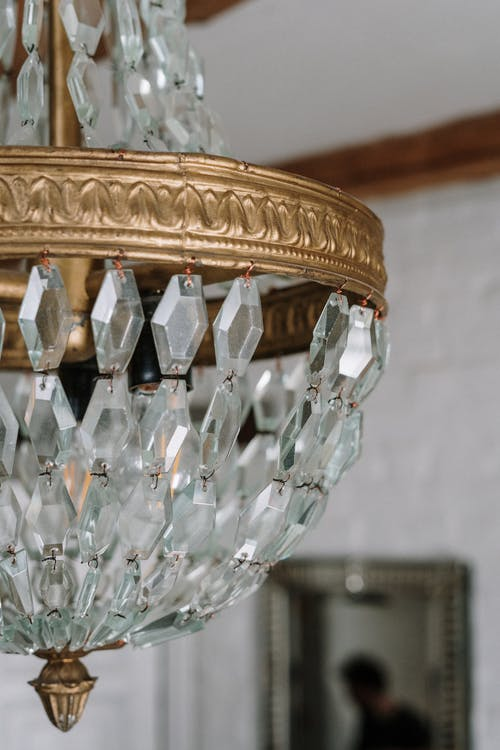 A Chandelier With Crystals