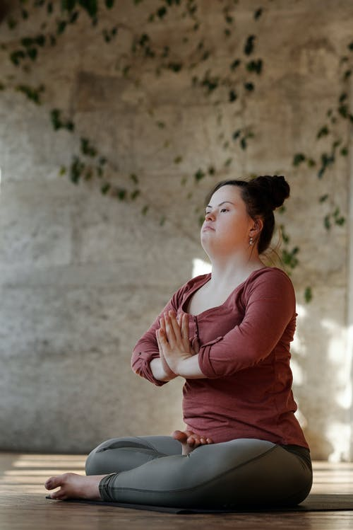 Photo Of Young Woman In A Yoga Position