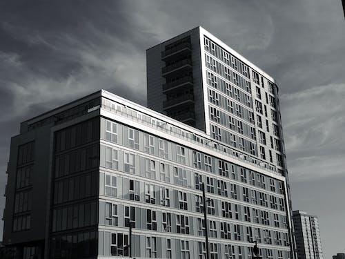 Ingyenes stockfotó ablakok, acél, ég, építészet témában