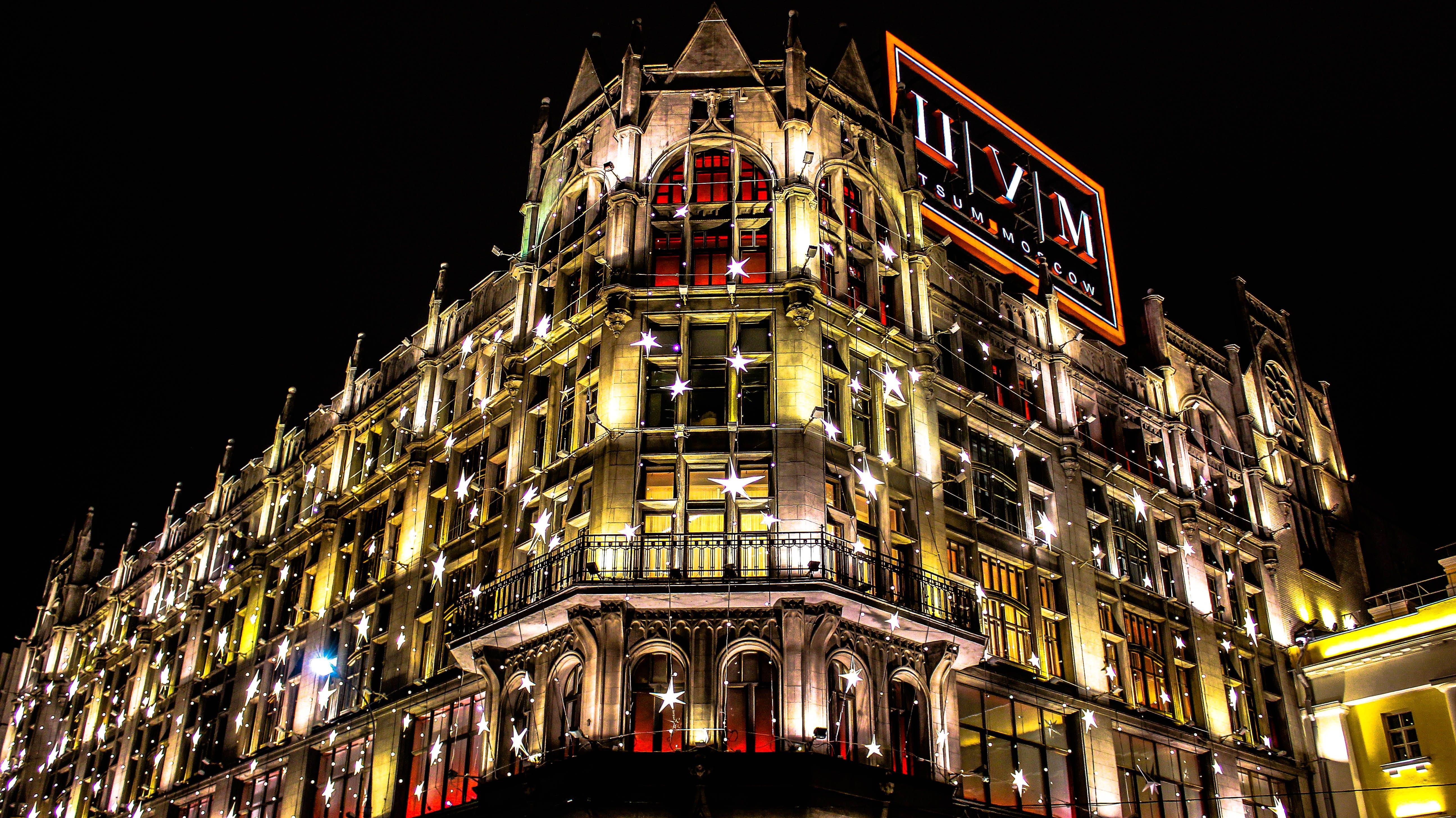 Free stock photo of lights, night, dark, building