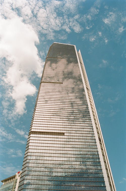 Free stock photo of bulding, clouds, perspective