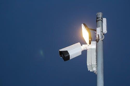 White and Black Street Light