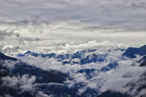 White Clouds over Mountains