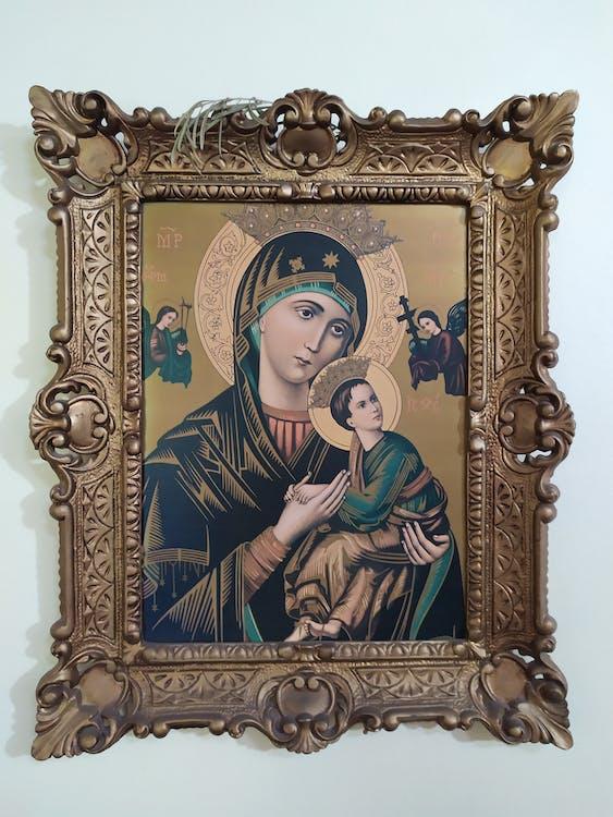 Virgin Mary and Jesus Christ Photo