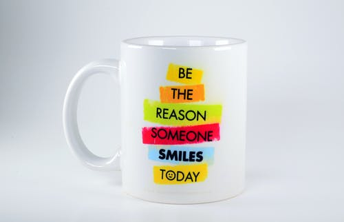 Free stock photo of Be the Reason of Someone's Smile Today, mug, statement, Support Hamza