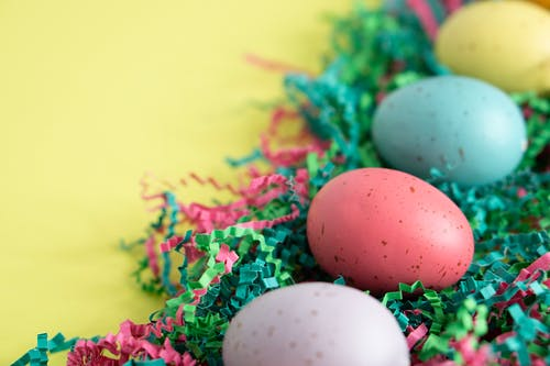 Pastel Color Easter Eggs