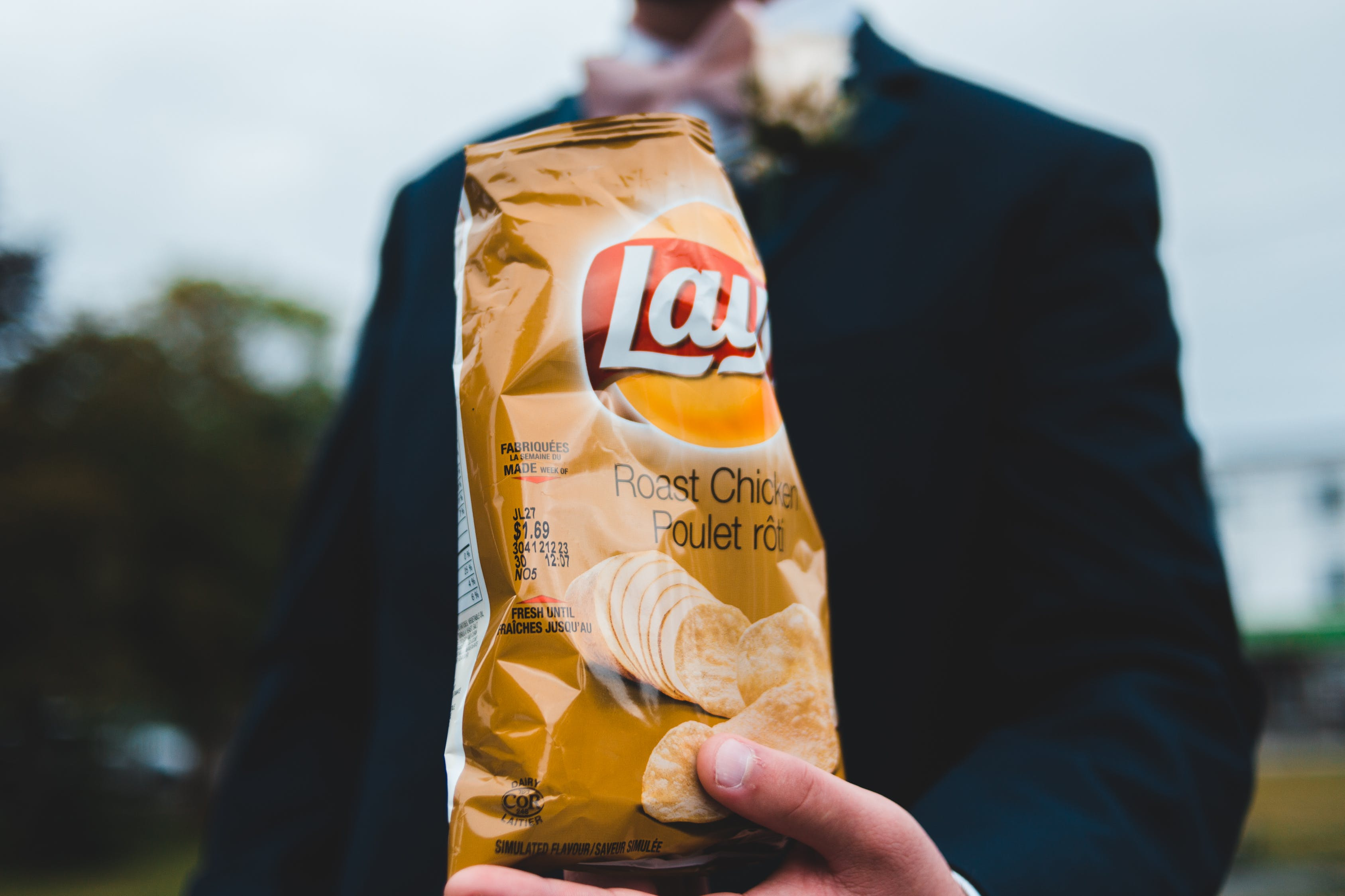 Unrecognizable man with bag of chips image for Frito Lay Case Study