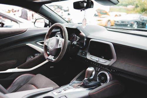 Interior of modern luxury car