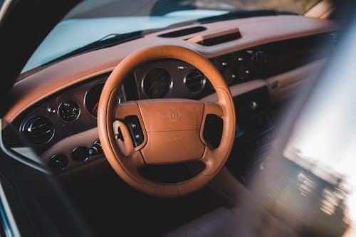 Brown Bentley Steering Wheel