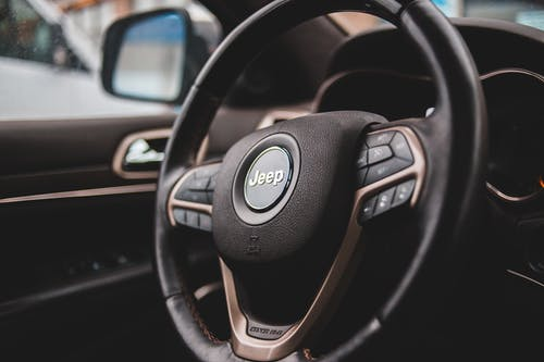 Black Jeep Steering Wheel
