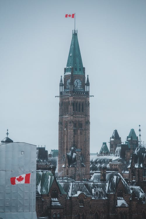 The Peace Tower In Canada Parliament Building